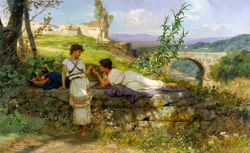 O Talismã - Henryk Siemiradzki e suas pinturas ~ Polonês