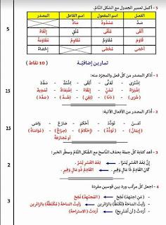 """8 - تمارين ملخصة لأهم قواعد اللغة العربية ."""".استعدادا لمناظرة السيزيام"""""""