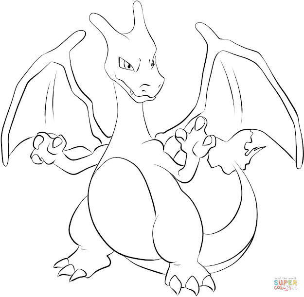 Click The Charizard Coloring Pages To View Printable Version Or Color It  Online Patible With Ipad And Android Tablets