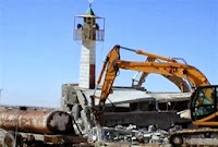 Destruction of a minaret
