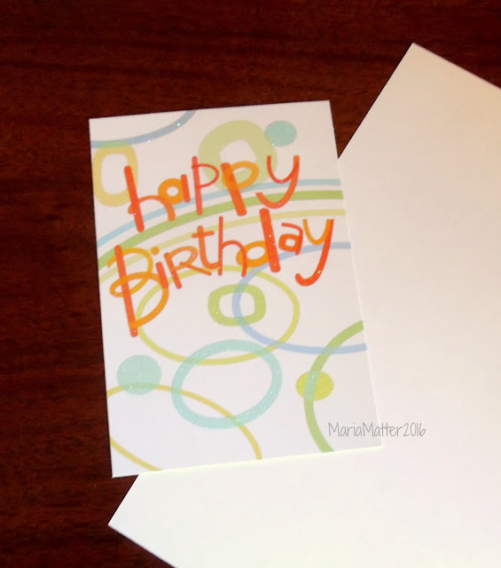 Five Simple Things Simple Sparkly And Recycled Birthday Card