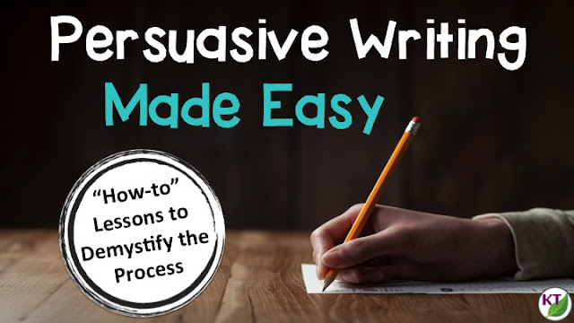 Demystify the persuasive writing process for 4th - 8th graders by breaking down component skills and providing isolated practice at each step.