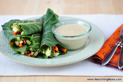nourishing meals raw thai wraps with cilantro pumpkin seed p t. Black Bedroom Furniture Sets. Home Design Ideas