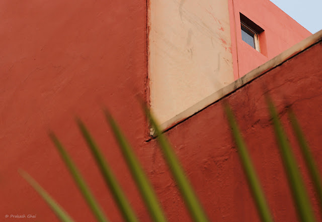 A Minimalist Photograph of a Distant window at Jawahar Kala Kendra, Jaipur