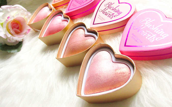 Review & Swatches: I Heart Makeup -  Blushing Hearts Triple Baked Blushers - Makeup Revolution
