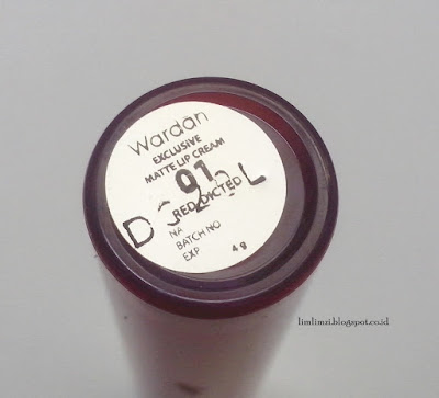 Wardah Exclusive Matte Lip Cream No. 1 (Red Dicted)
