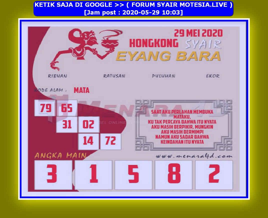 Kode syair Hongkong Jumat 29 Mei 2020 189