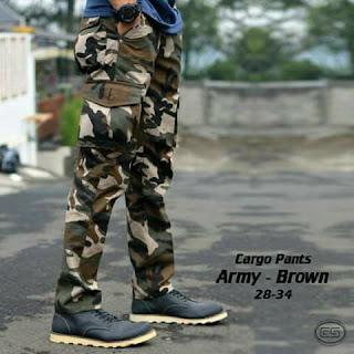 celana cargo motif army, celana cargo, celana cargo army, celana cargo pria