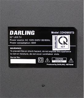 Nhãn TIVI DARLING LED 32 INCH 32HD955T2