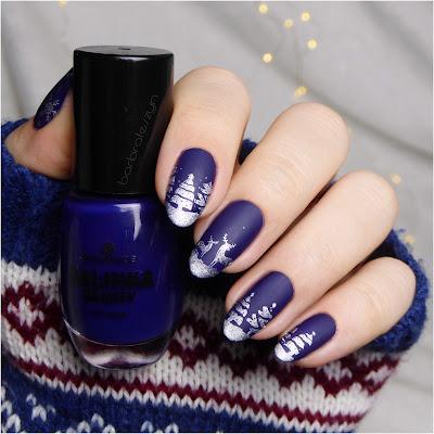 Zimowe zdobienie paznokci