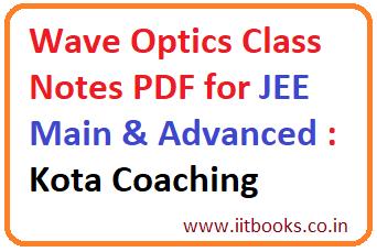 Kota Physics Notes Pdf