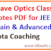 Allen Institute Wave Optics Class Notes PDF for JEE Main - Download