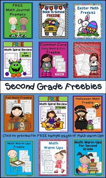 Second Grade Freebies