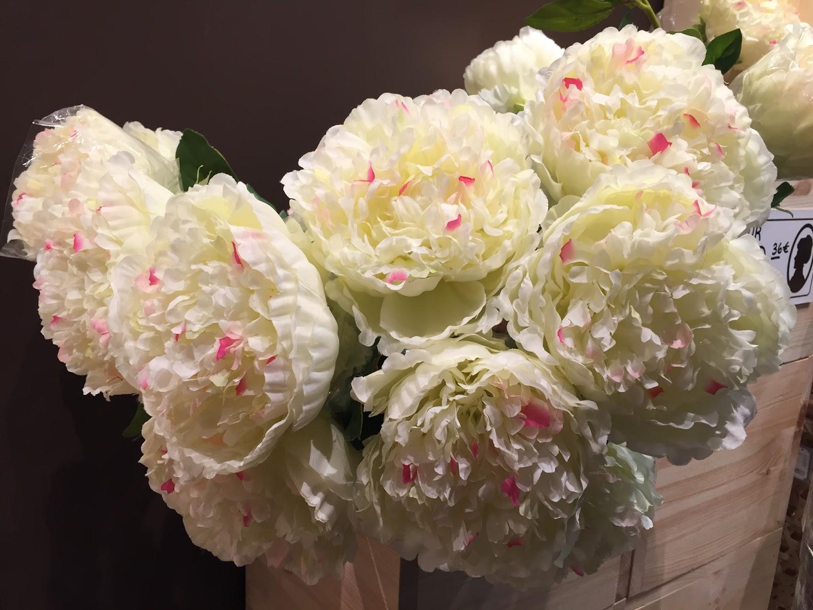 soeurs Sostrene Grene du danemark la défense paris fleur artificielle pivoine