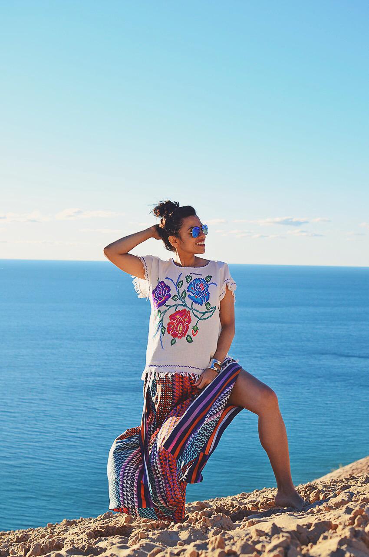Fashion editorial at the beach