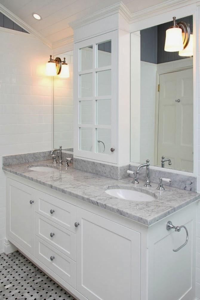 FRANKIE HEARTS FASHION: Inspiration: Grey + White Bathrooms