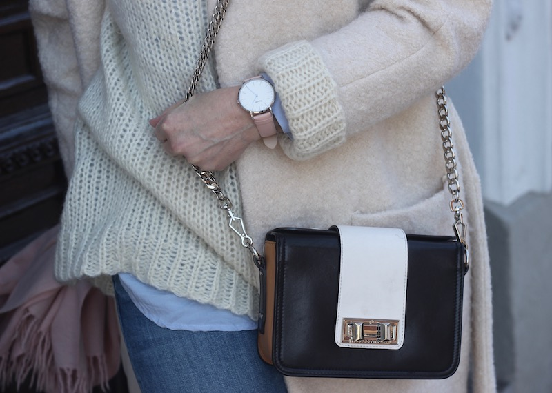 cluse watch, rebecca minkoff bag