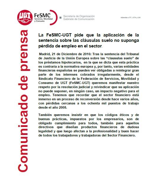 Ugt bmn diciembre 2016 for Bmn clausula suelo 2016