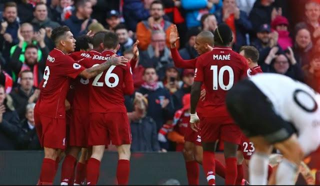 Liverpool Ke Puncak Klasemen Liga Inggris Setelah Mengalahkan Fulham