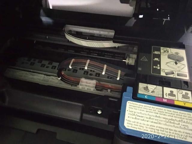 pemasangan tinta G2010 untuk pertama kali