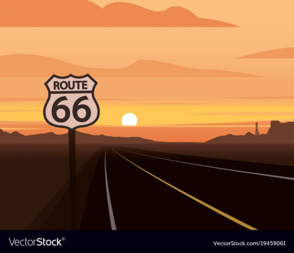 Sunset On Route 66 Wallpapers Box