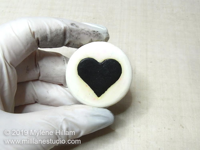 The back of the heart can be smoothed out by pressing it into your work surface