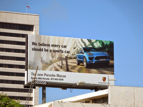 Porsche Macan every car a sports car billboard