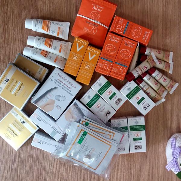 amostras para testar na pele