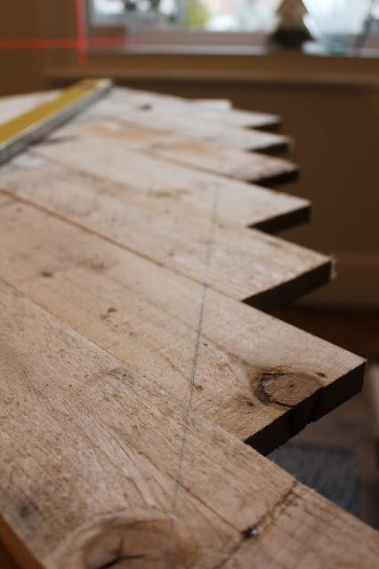 DIY Herringbone Tabletop