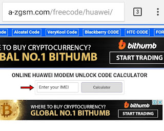 HUAWEI MODEM UNLOCK CODE CALCULATOR