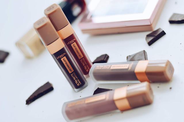 L'Oreal Paris Ultra Matte Les Chocolats huulevärvid