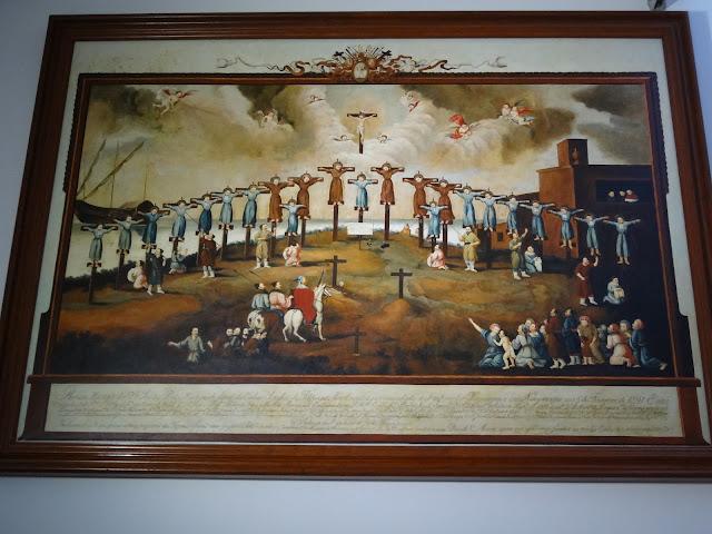 Cuadro de los mártires cristianos de Nagasaki en Macao