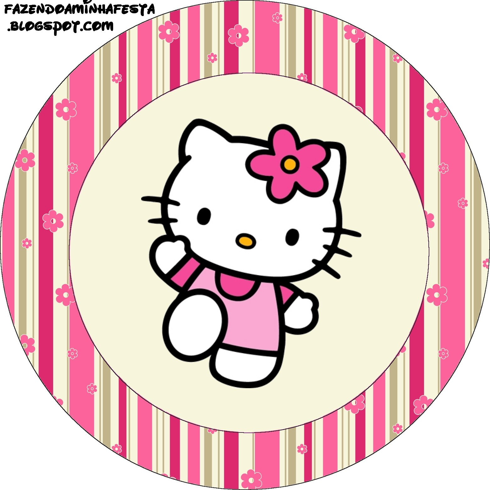 Imprimibles de hello kitty 15 ideas y material gratis for Hello kitty cupcake topper template