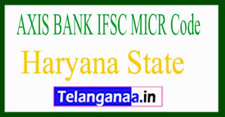AXIS BANK IFSC MICR Code Haryana State