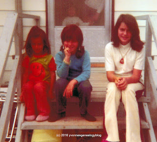 Robert Burdan (1962-1982) with his cousins Marianne and Kathy