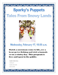 Sparky's Puppets at Franklin Library