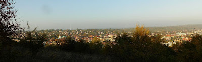 Panorama Myślenic z Plebańskiej Góry.