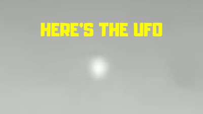 Here's a close up look at the UFO that has seen the Mars Rover and then darted off for cover behind the mountain.