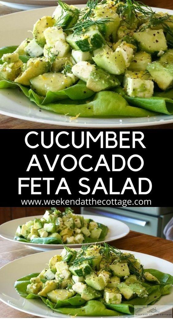 Cucumber, Avocado & Feta Salad