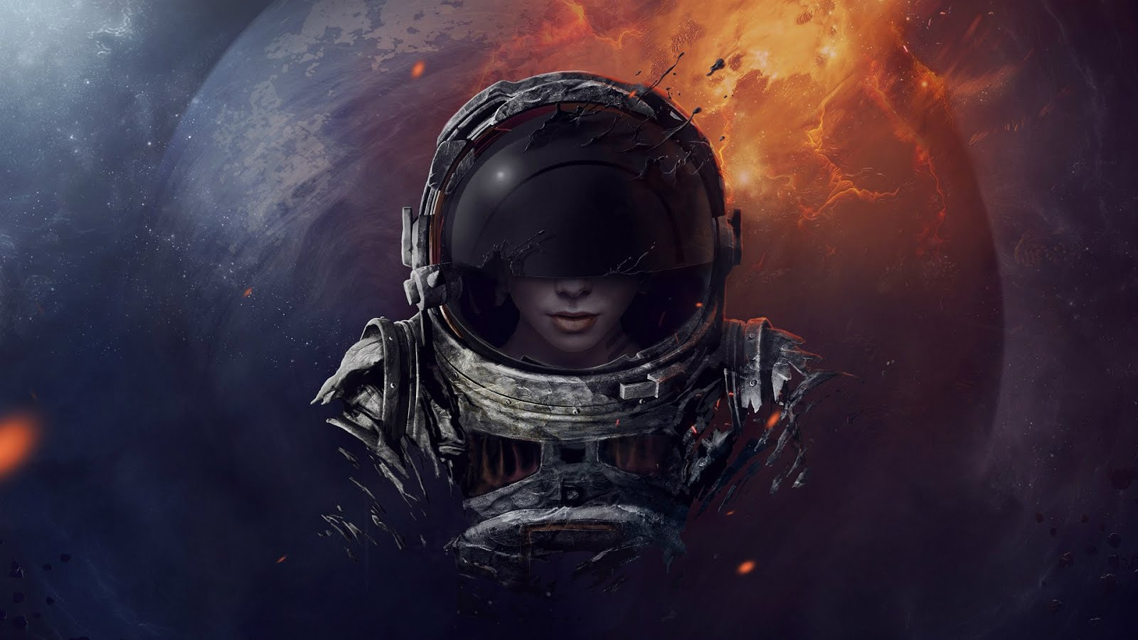 Space Girl Wallpaper