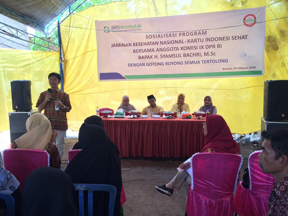 BPJS Kesehatan Cabag Watampone Gelar Sosialisasi di Wajo Bersama Komisi IX DPR RI