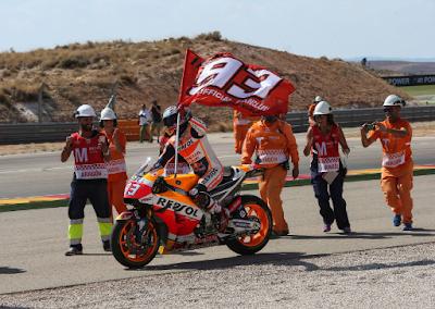 Marquez dan Pedrosa Kembali Jajal RC213V 2017 di Tes Aragon
