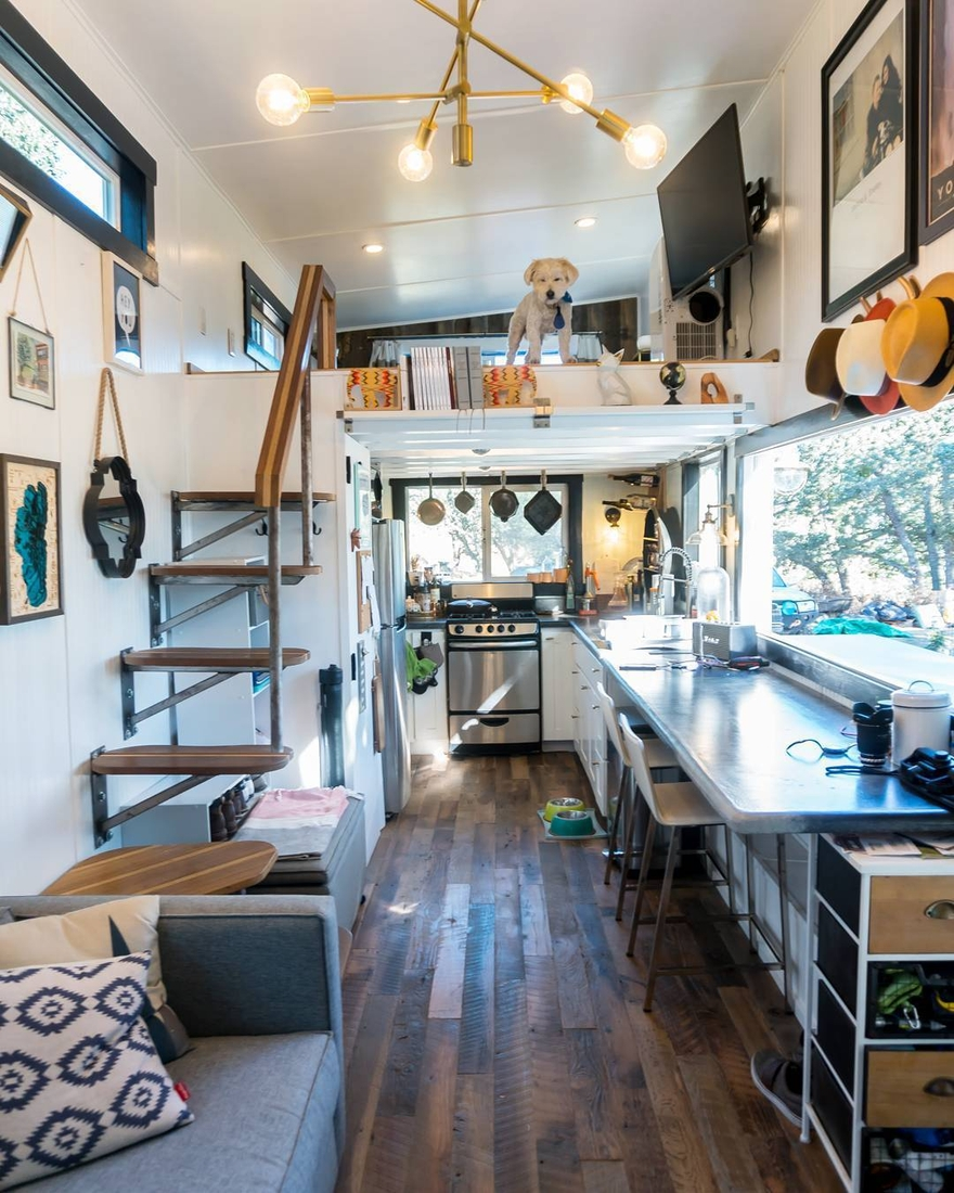 08-Dog-Guarding-Joshua-Shelley-Engberg-Cut-Excess-Architecture-with-a-Tiny-House-on-Wheels-www-designstack-co