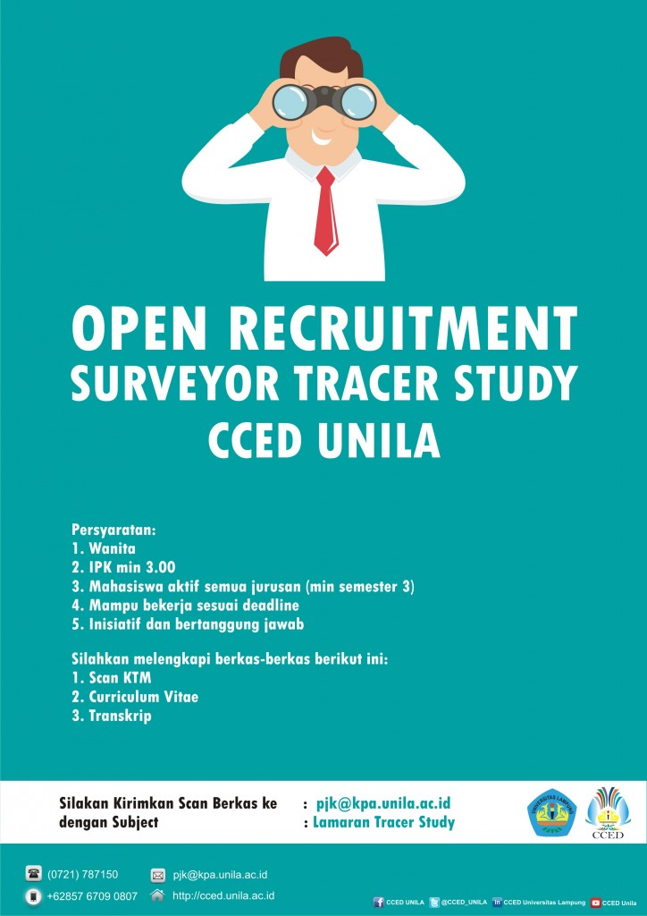 Open Recruitment Surveyor Tracer Study Unila