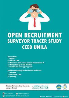 Open Recruitment Surveyor Tracer Study Unila