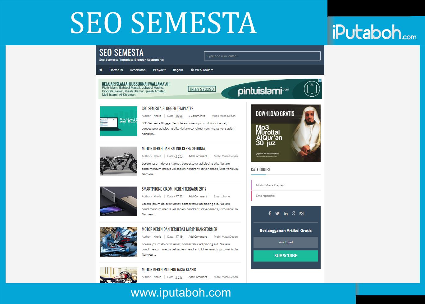 SEO Semesta Free Blogger Templates - iPutaboh : Blogger Templates