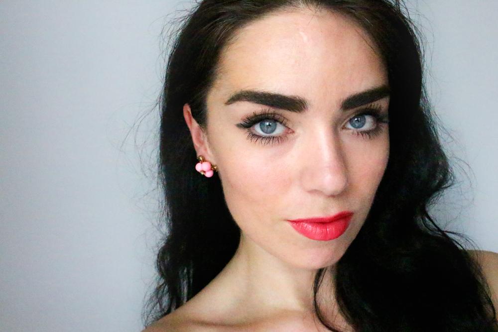 Charlotte Tilbury Full Fat Mascara and Coachella Coral Lipstick - beauty blogger Emma Louise Layla review