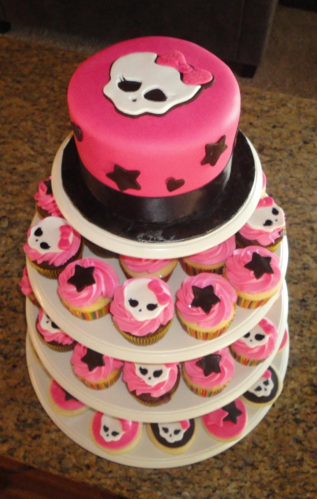 Pink Sugar Cupcakes Monster High Cake Cupcakes And Cookies