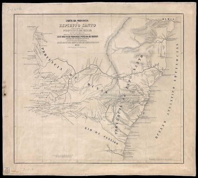 Mapa da Província do ES, 1856 - Biblioteca Digital Luso-brasileira