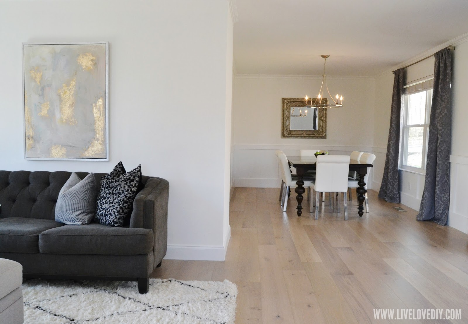 LiveLoveDIY: Our new hardwood flooring and a living room reveal!